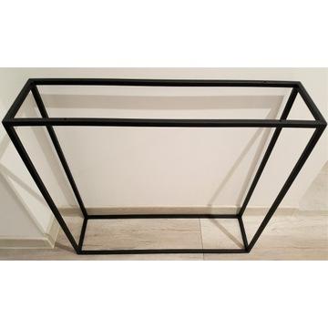 Konstrukcja stelaż konsola stolik czarny mat loft
