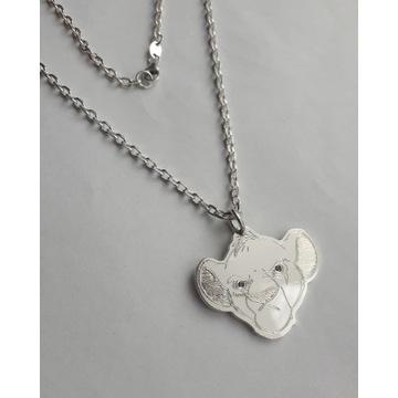 Zawieszka łańcuchem srebro925 młody simba komplet