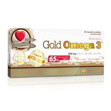 GOLD OMEGA 3 60 TABLETEK MIĘKICH