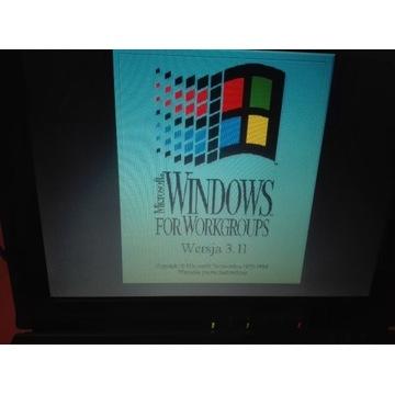 Retro Laptop z Windows 3.11PL 133MHz plus zasilacz