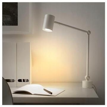 IKEA NYMANE Lampka biurkowa ścienna kinkiet z USB