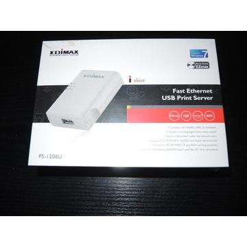EDIMAX Print server 1xUSB 2.0, 1xRJ45 10/100Mbps