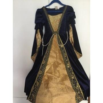 Sukienka strój księżniczka rozmiar 5-6
