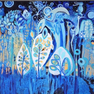 Obraz abstrakcyjny, nowoczesny Magiczny Las 70x50