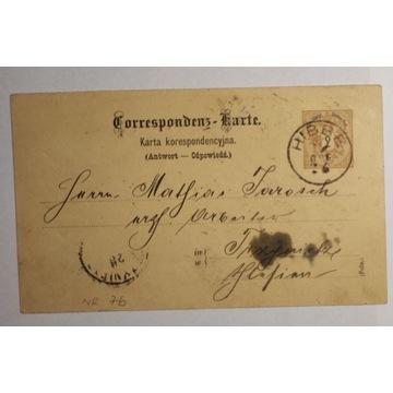 CP 7b Karta Korespondencyjna HIBBE 1889