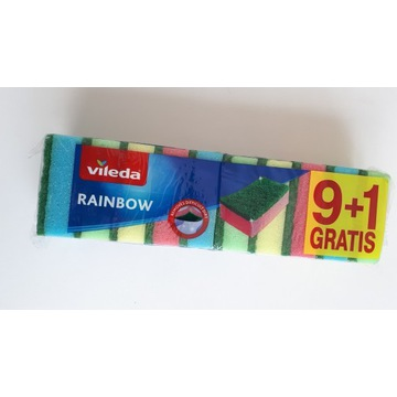 Zmywaki Vileda Gąbki Rainbow style 9 + 1 Gratis
