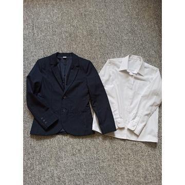 Marynarka i koszula dla chłopca na 146
