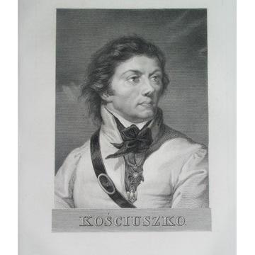 1836 ORYGINAŁ TADEUSZ KOŚCIUSZKO portret Chodźko