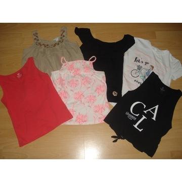 T-shirt,top Zara,H&M roz.140  6szt.