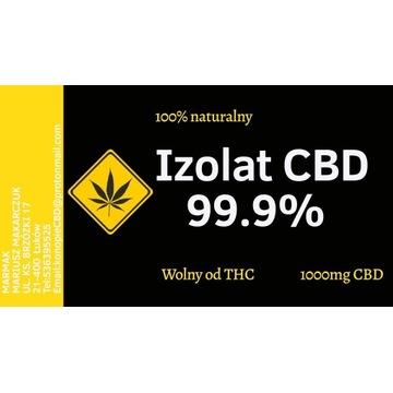 Izolat CBD 99% wolny od THC