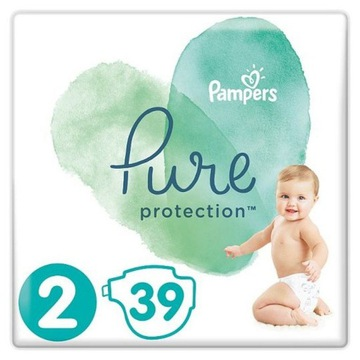 Pampers Pure Protection Rozmiar 2 (4-8 kg) 39 szt.