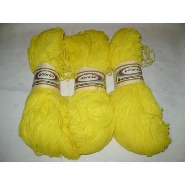 Włóczka anilana 100% żółta 300g 3 sztuki x 100g