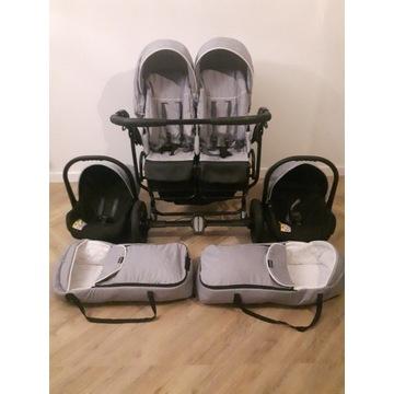 Wózek bliźniaczy wielofunkcyjny MIKADO  DUO