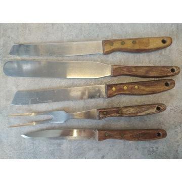 Gerlach Zestaw 5 noży kuchennych z drewnianą rączk