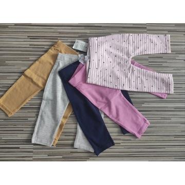 Spodnie legginsy 5pack George 62/68