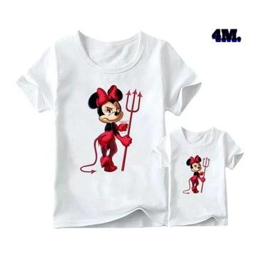 Koszulka zestaw Minnie mouse mama córka