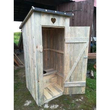Nowy wychodek kibel drewniany Szalet WC latryna