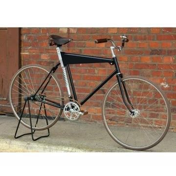 Retro rower czarny - single speed