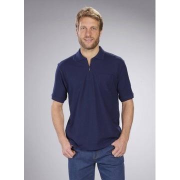 Koszulka Polo z zamkiem, 100% bawełna, 3XL