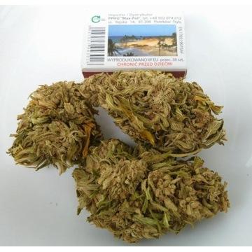 Herbata susz konopny, 16% CBD/CBG. 10g. Duże topy.