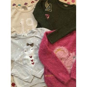 Sweterki i bluza dla dziewczynki