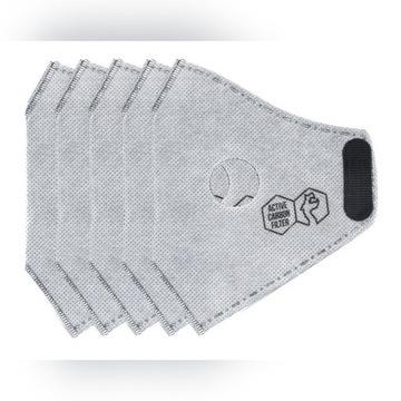Filtry węglowe do maski Casual II N99 DRAGON L x5