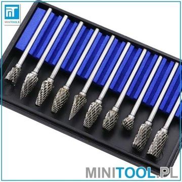 Frezy 10 szt 6mm węglik wolframu do miniszlifierki