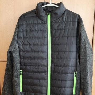 Pikowana męska kurtka przejściowa (XL) - czarna