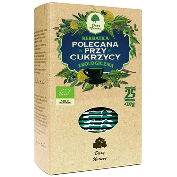 Herbata polecana przy cukrzycy,   Dary Natury
