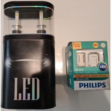 Oświetlenie LED H1 R4 + LED PY21W