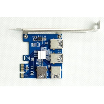 Adapter Rozdzielacz Portu PCI-E USB RISER SPLITTER