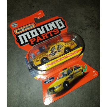 Matchbox moving parts ford crown taxi hot wheels