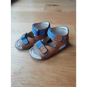 Skórzane sandały dziecięce Emel rozmiar 22