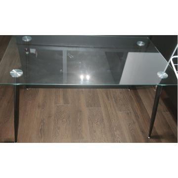 Stół 80x140 szkło/czarny