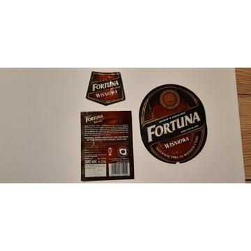 Etykieta Fortuna Wiśniowa 2014 rok