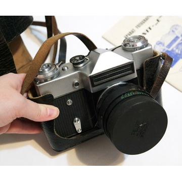 Stary aparat fotograficzny  prl Zenit E