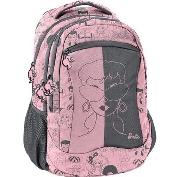 Plecak Barbie firmy Paso różowy 4 komory