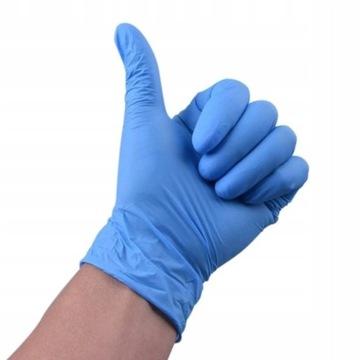 Rękawiczki nitrylowe. Rozmiar L opakowanie 100 szt