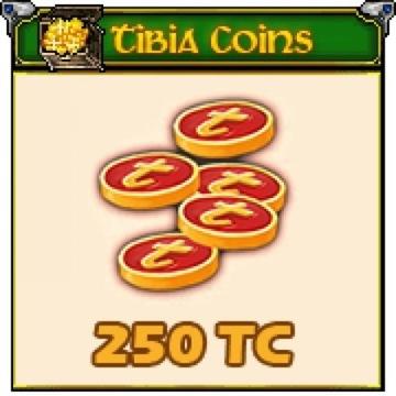 TIBIA COINS 250 WSZYSTKIE SWIATY