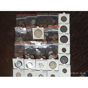 Zestaw VIII monety od 1620. ponad 160 szt. i srebr