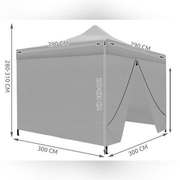 namiot ogrodowy, pawilon handlowy 3x3