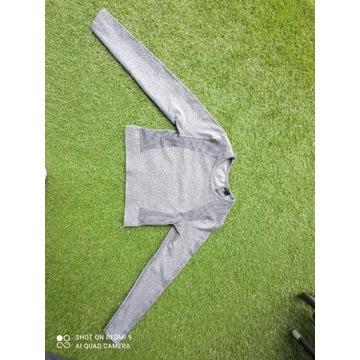Bezszwowy top treningowy H&M rozmiar M Szary