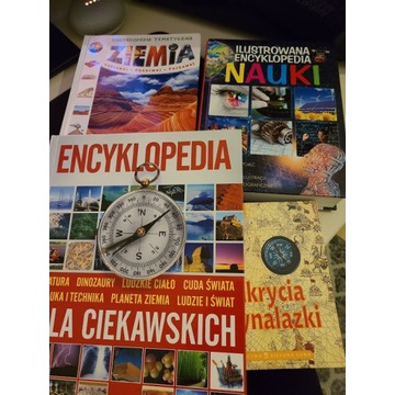 Zestaw 4 encyklopedie dla dzieci z klas 3-8 szkoła
