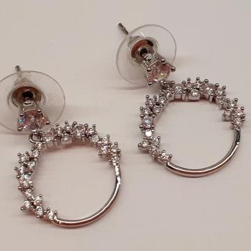 Kolczyki srebrne z cykoriami