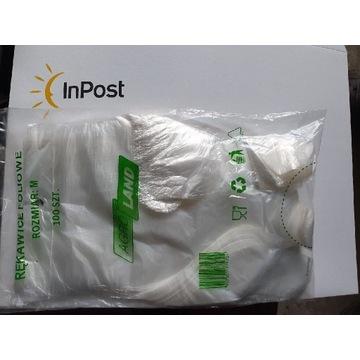 Rękawiczki foliowe HDPE. Op 100szt. Szybka wysyłka