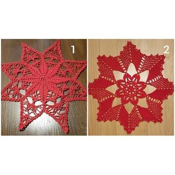 Serwetka gwiazda Prezent na Boże Narodzenie