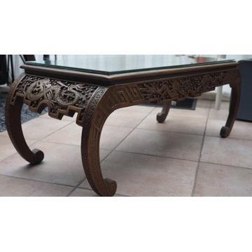 stolik ,ława -chińskie, orientalne zdobienia