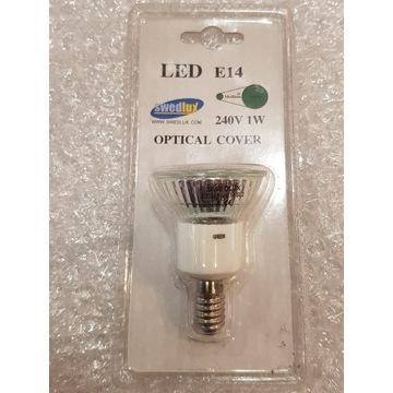 Żarówka LED Kolorowa Swedlux E14 1W Zielona