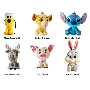 Komplet 6 maskotek z Lidla - Disney.