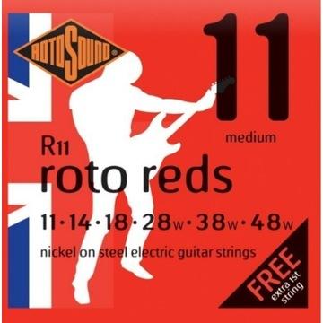 Struny do gitary elektrycznej 11-48